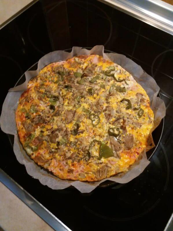 Πίτσα ομελέτα στον φούρνο